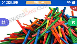 RED STICKS PILE